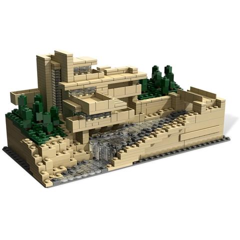 Mô hình Lego Architecture 21005 - Thác Nước Fallingwater sau khi hoàn thành lắp ghép