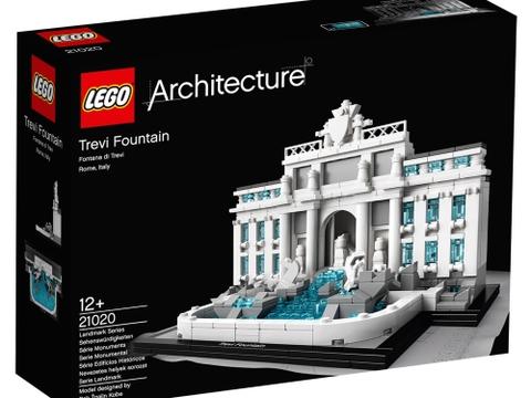 Vỏ hộp đựng sản phẩm Lego Architecture 21020 - Đài Phun Nước Trevi