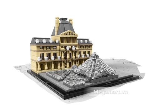 Trọn vẹn mô hình Lego Architecture 21024 - Viện bảo tàng Louvre sau khi hoàn thành
