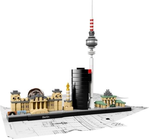 Bộ xếp hình Lego Architecture 21027 - Thành phố Berlin mô phỏng trọn vẹn và tinh tế các địa danh nổi tiếng trong thành phố năng động Berlin