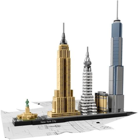 Bộ xếp hình Lego Architecture 21028 - Thành phố New York với các tòa nhà độc đáo