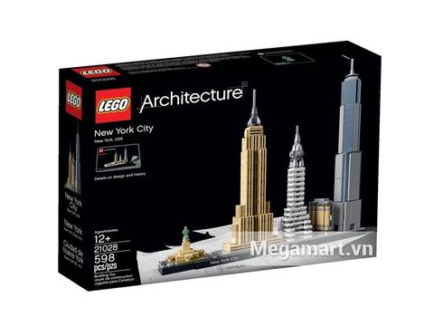 Hình ảnh vỏ hộp sản phẩm Lego Architecture 21028 - Thành phố New York