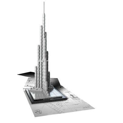 Bộ ghép hình Lego Architecture 21031 - Tòa Nhà Chọc Trời Burj Khalifa rèn luyện trí óc cho bé