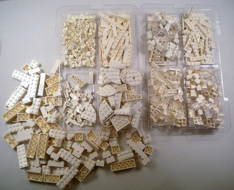 Lego Architecture 21050 - Kiến Trúc Sư - các chi tiết được phân loại