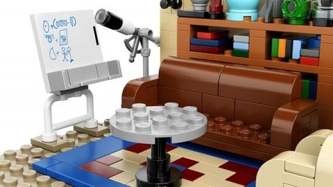Lego Ideas 21302 - Bí mật vụ nổ Big Bang - một góc trong phòng khách