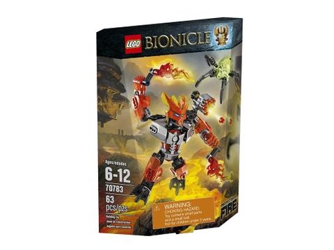 Vỏ hộp bộ xếp hình Lego Bionicle 70783 - Hộ Vệ Lửa
