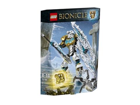 Vỏ hộp đựng thiết kế cầu kỳ của bộ Lego Bionicle 70788 - Thần băng Kopaka