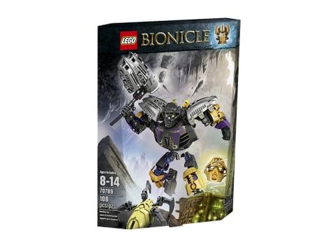 Thiết kế hộp đựng to của đồ chơi Lego Bionicle 70789 - Thần đất Onua
