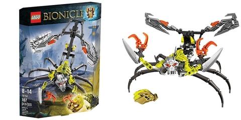 Trọn bộ chi tiết có trong mô hình Lego Bionicle 70794 - Bò Cạp Đầu Sọ