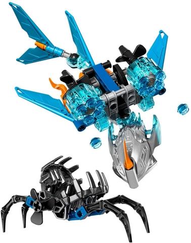 Trọn bộ các chi tiết của bộ xếp hình Lego Bionicle 71302 - Sinh Vật Nước Akida sau khi hoàn thành