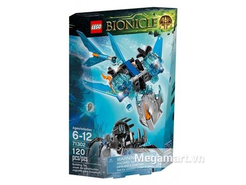 Vỏ hộp thiết kế đẹp mắt của bộ xếp hình Lego Bionicle 71302 - Sinh Vật Nước Akida