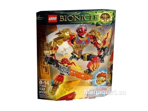 Vỏ hộp đựng bộ đồ chơi Lego Bionicle 71308 - Thần Lửa Tahu