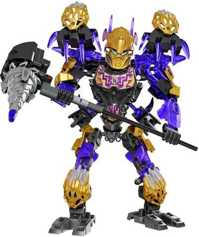 Trọn bộ mô hình Lego Bionicle 71309 - Thần Đất Onua sau khi lắp ghép xong