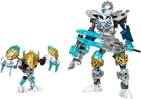 Hai sinh vật băng thần bí Kopaka và Melum trong bộ xếp hình Lego Bionicle 71311 - Kopaka Và Melum Kết Hợp