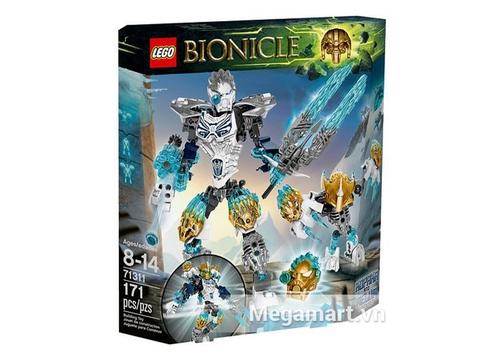 Hỉnh ảnh vỏ hộp bộ đồ chơi Lego Bionicle 71311 - Kopaka Và Melum Kết Hợp