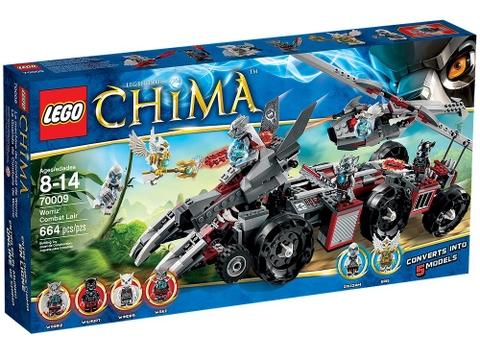 Hình ảnh thực tế vỏ ngoài sản phẩm Lego Chima 70009 - Sào Huyệt Bộ Tộc Sói