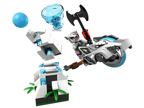 Trò chơi hấp dẫn trong bộ xếp hình Lego Chima 70106 - Tháp Băng