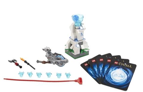 Mô hình bên trong bộ sản phẩm Lego Chima 70106 - Tháp Băng với nhiều chi tiết thú vị rất hấp dẫn các bé như mô hình nhân vật, vũ khí, thẻ bài và vũ khí CHI huyền thoại