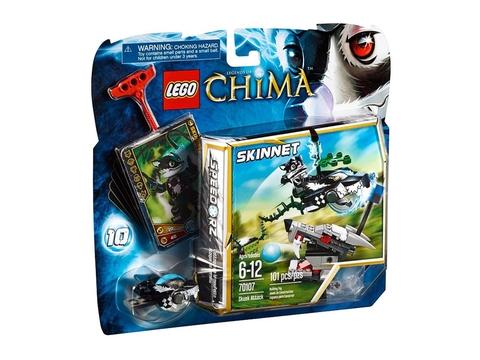 Hình ảnh bên ngoài bộ đồ chơi Lego Chima 70107 - Chồn Tấn Công