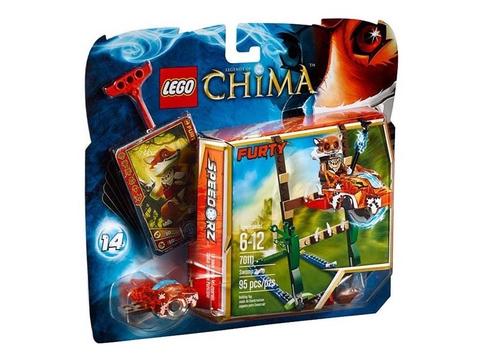 Hình ảnh vỏ hộp thiết kế độc đáo của bộ xếp hình Lego Chima 70111 - Swamp Jump