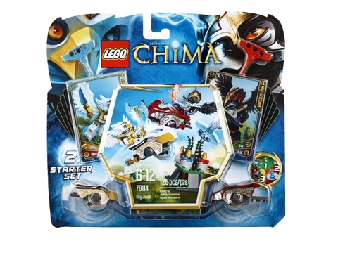 Vỏ ngoài thiết kế độc đáo của bộ đồ chơi Lego Chima 70114 - Trận Chiến Trên Không