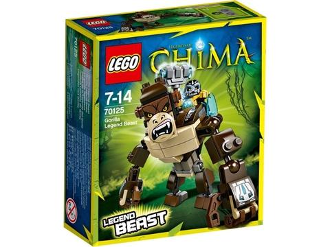 Hình ảnh vỏ hộp thực tế của Lego Chima 70125 - Khỉ Đột Huyền Thoại