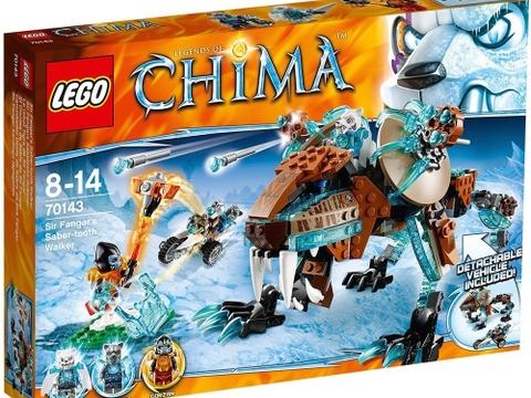 Hình ảnh vỏ hộp bên ngoài sản phẩm Lego Chima 70143 - Cỗ Máy Chiến Đấu của Hổ Băng