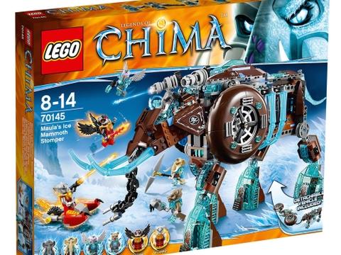 Vỏ ngoài hộp đựng bộ đồ chơi Lego Chima 70145 - Cỗ Máy Chiến Đấu Ma Mút