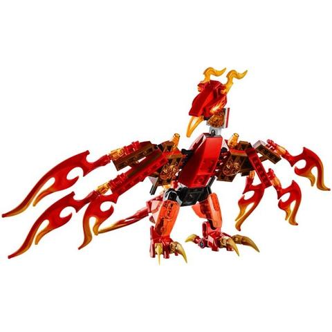 Cỗ máy phượng hoàng nổi bật với màu đỏ rực đặc trưng của phượng hoàng và còn có thêm nhiều chi tiết sống động và thú vị chưa từng thấy