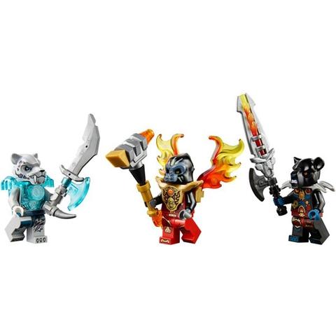 Mô hình 3 nhân vật Chima : Gorzan, Sykor và Tormak