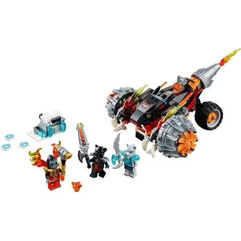 Toàn bộ chi tiết trong bộ đồ chơi Lego Chima 70222 - Xe Chiến Đấu Của Tormak
