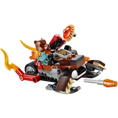 Bộ xếp hình Lego Chima 70223 - Máy Khoan Băng Giá với bối cảnh sinh động cho bé khám phá