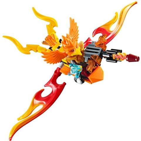 Mô hình tuyệt đẹp của nhân vật Lego Chima đang cưỡi chú kền kền rực lửa