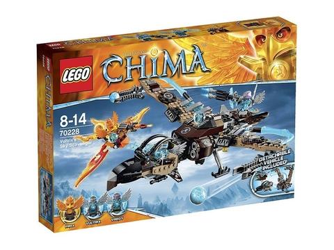 Hình ảnh thực tế bên ngoài bộ sản phẩm Lego Chima 70228 - Biệt Đội Không Kích Kền Kền