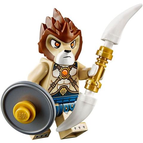 Mô hình nhân vật sư tử với nhiều vũ khí và chi tiết hiện đại nổi bật với mái đầu dựng dứng màu đỏ