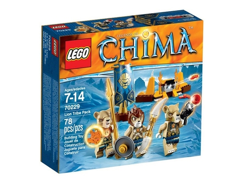 Thiết kế v ỏ hộp Lego Chima 70229 - Bộ Tộc Sư Tử