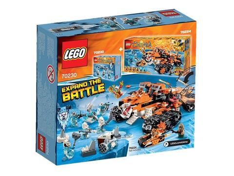 Hình ảnh vỏ ngoài thực tế sản phẩm Lego Chima 70230 - Bộ Tộc Gấu Trắng