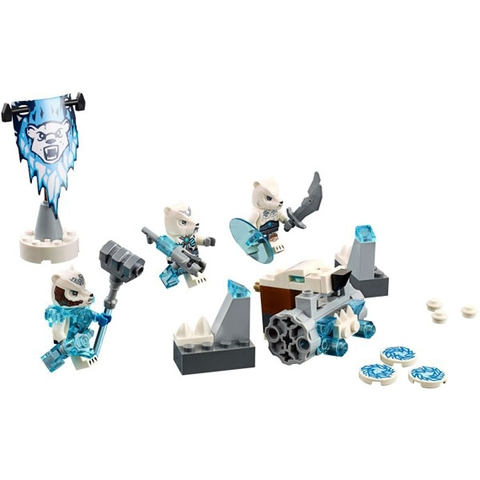 Mô hình nhân vật và những chi tiết trong bộ trò chơi lắp ghép Bộ Tộc Gấu Trắng mang đến cho bé những giờ chơi vừa say mê cuốn hút lại vừa bổ ích