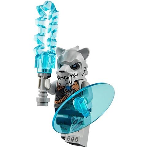 Nhân vật hổ nanh kiếm này được trang bị súng bắn hiện địa cùng chiếc lá chắn được thiết kế tinh xảo