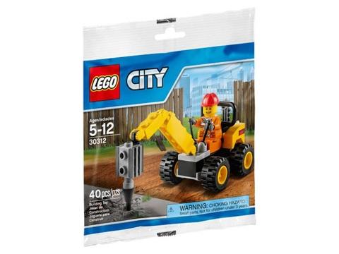 Hình ảnh bên ngoài sản phẩm Lego City 30312 - Tháo Dỡ Xây Dựng