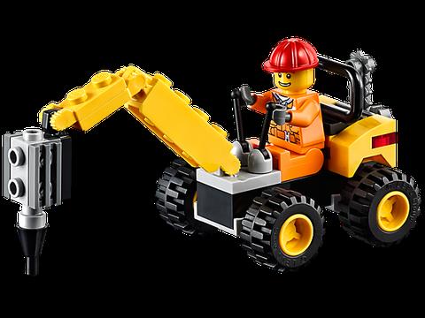Mô hình xe xúc sinh động trong Lego City 30312 - Tháo Dỡ Xây Dựng