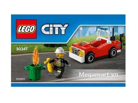 Hình ảnh vỏ hộp bộ đồ chơi Lego City 30347 - Xe Cứu Hỏa