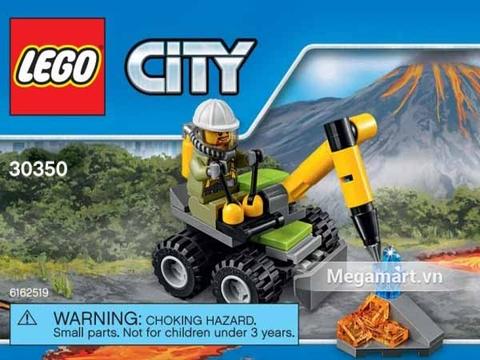 Các mô hình ấn tượng trong bộ Lego City 30350 - Máy khoan núi lửa