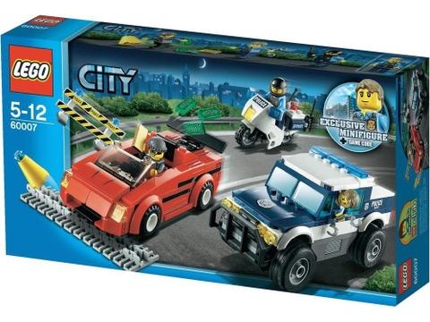 Hình ảnh bên ngoài sản phẩm Lego City 60007 - Đuổi Bắt Tốc Độ