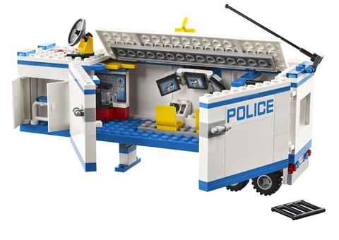 Các chi tiết bằng nhựa cao cấp trong bộ xếp hình Lego City 60044 - Đội Cảnh Sát Thông Tin
