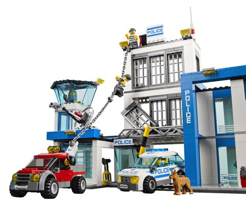 Bộ xếp hình Lego City 60047 - Sở Cảnh Sát mô tả lại cuộc truy bắt tù nhân đang trốn thoát