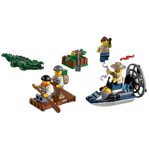 Các chi tiết sẽ xuất hiện trong Lego City 60066 - Cảnh Sát Đầm Lầy - Bộ Khởi Đầu