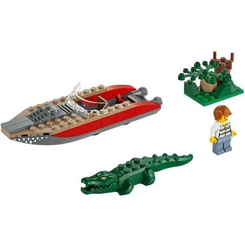 Bộ đồ chơi Lego City 60067 - Trực Thăng Truy Đuổi với bối cảnh truy đuổi gay cấn
