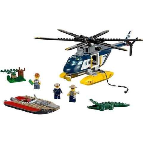 Toàn bộ mô hình Lego City 60067 - Trực Thăng Truy Đuổi sau khi lắp ghép xong
