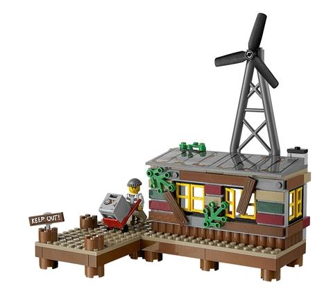 Bối cảnh hấp dẫn trong bộ xếp hình Lego City 60068 - Hang Ổ Tội Phạm